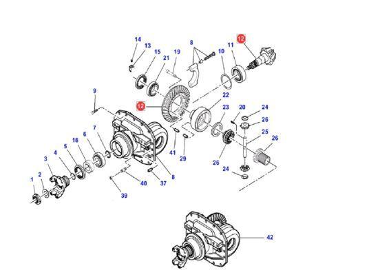 couple conique (7350450901) diferencial para MASSEY FERGUSON 5400 6400 tractor nuevo