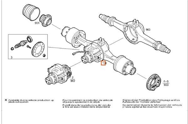 Grupo Diferencial Completo Iveco EuroTech              (MP) FSA  diferencial para IVECO EuroTech (MP) FSA (400 E 34 ) [9,5 Ltr. - 254 kW Diesel] camión