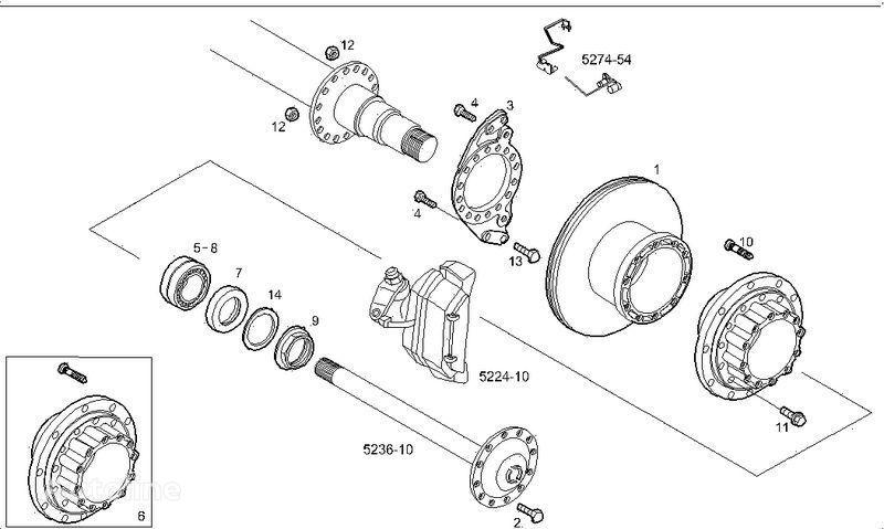 IVECO 2995812 2996328 7185503 7189476 disco de freno para IVECO STRALIS camión nuevo