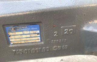 FENDT TYP x711 ~ 7450100163 eje para FENDT 716 tractor