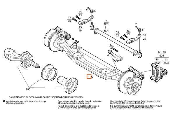 IVECO Eje Delantero Completo Iveco SuperCargo         (ML) FKI     180 (7182759) eje para IVECO SuperCargo (ML) FKI 180 E 27 [7,7 Ltr. - 196 kW Diesel] camión