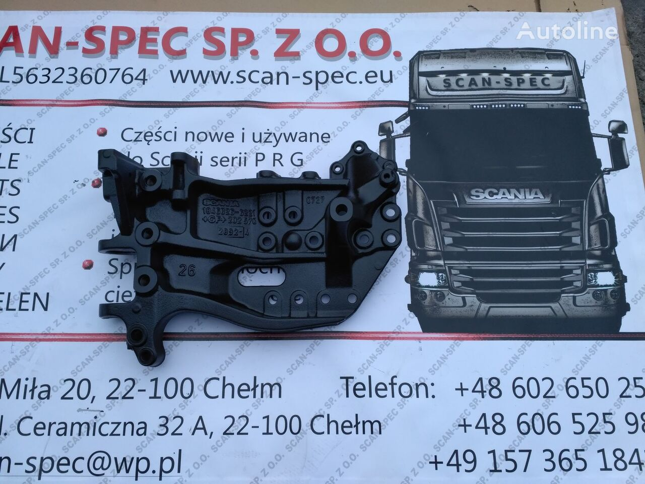 SCANIA Wspornik bazowy elementos de sujeción para SCANIA P R G T tractora