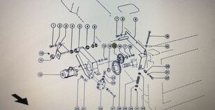 engranaje de cigüeñal para CLAAS Mega 370-360 cosechadora de cereales