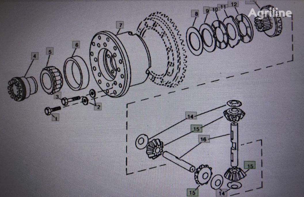 JOHN DEERE (R83036) engranaje de cigüeñal para JOHN DEERE 4555/4755/4955 tractor