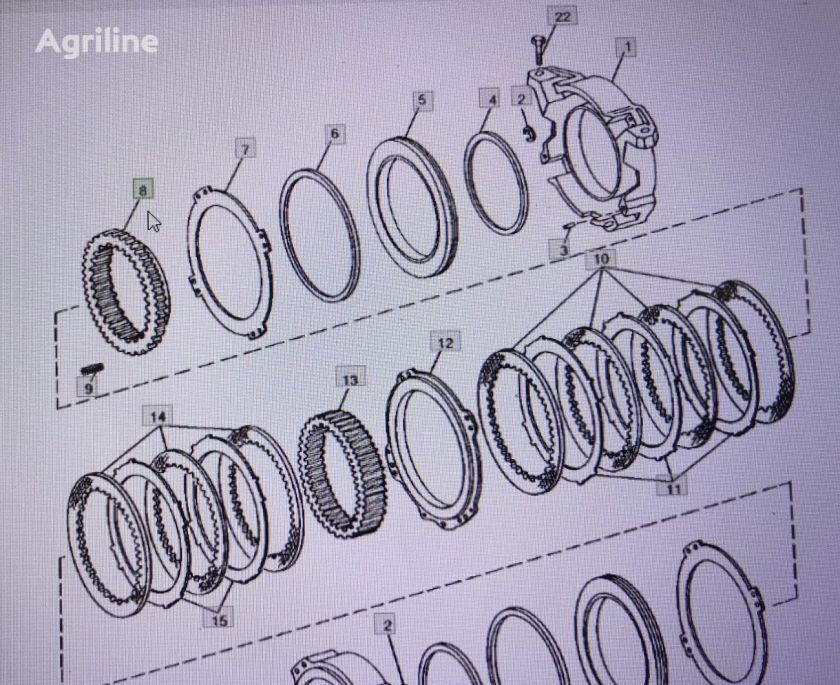 JOHN DEERE R112073/bieg-koło zębate/ engranaje de cigüeñal para JOHN DEERE  4555/4755/4955 tractor