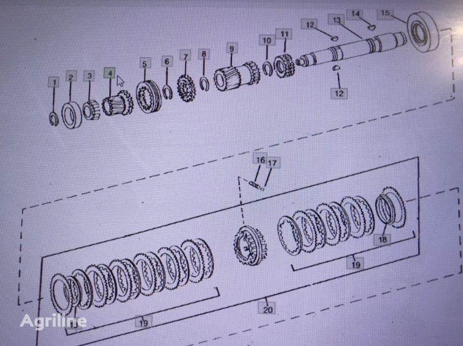 JOHN DEERE R63929 engranaje de cigüeñal para JOHN DEERE 4555/4755/4955 tractor