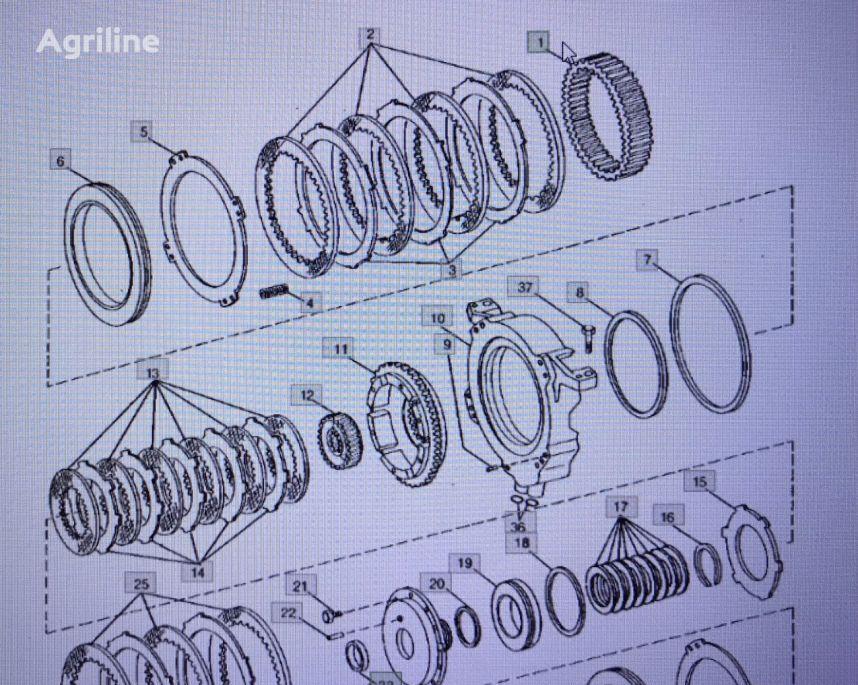 JOHN DEERE R7154/bieg-koło zębate engranaje de cigüeñal para JOHN DEERE 4555/4755/4955 tractor