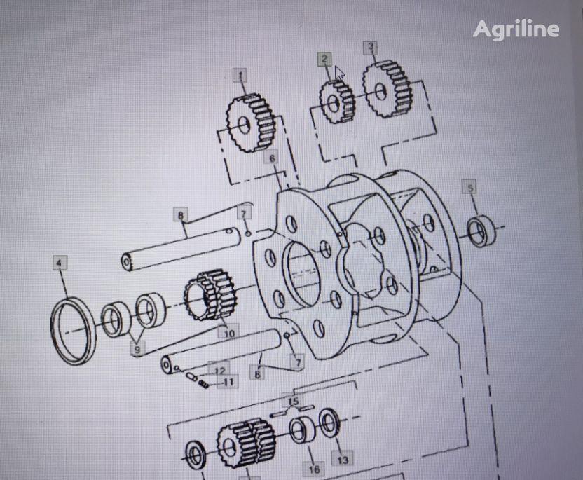 JOHN DEERE R71578 engranaje de cigüeñal para JOHN DEERE 4555/4755/4955 tractor