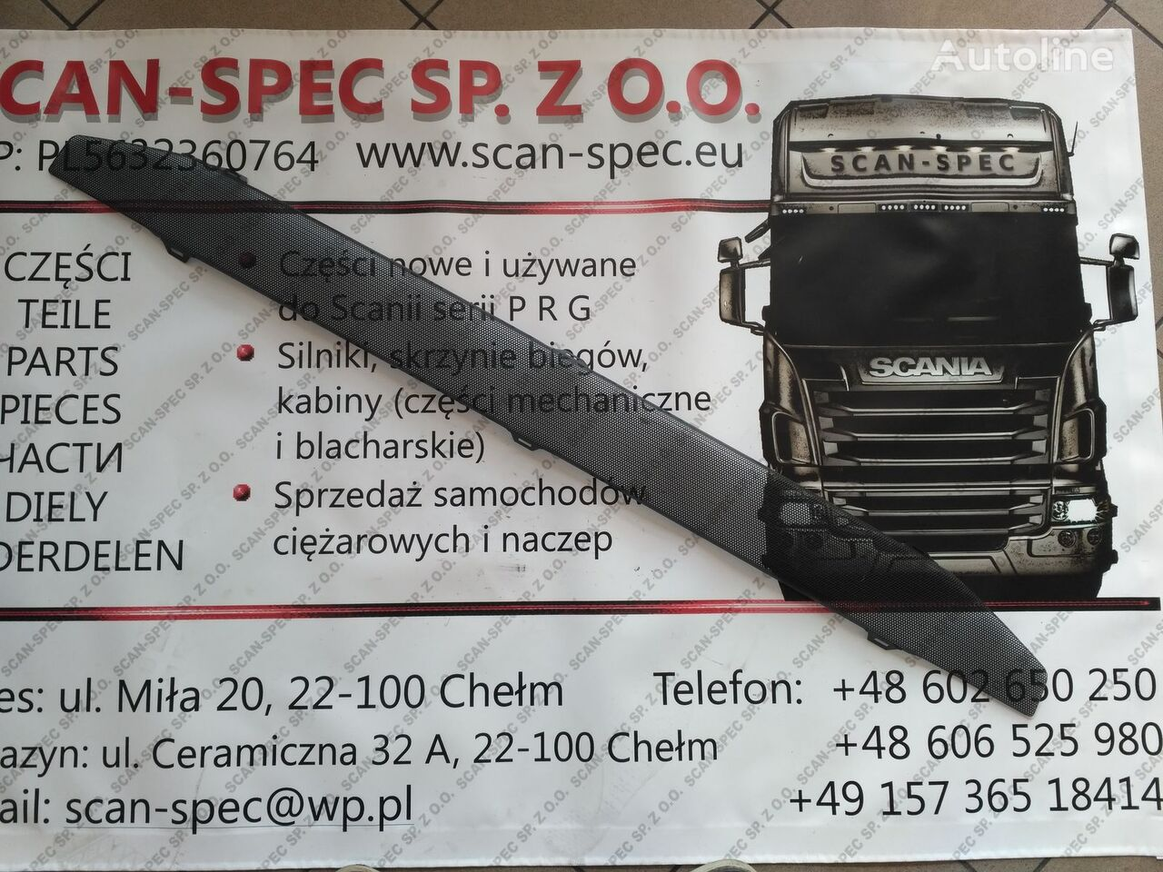 SCANIA kratka dolna (1870593) fascia delantera para SCANIA P R G T tractora