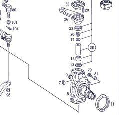 mangueta de dirección para MERCEDES-BENZ Actros 4-Ejes 6-Cil. Serie/BM 4143 (8X8/4) OM 501 LA [12,0 Ltr. - 315 kW V6 Diesel (OM 501 LA)] camión