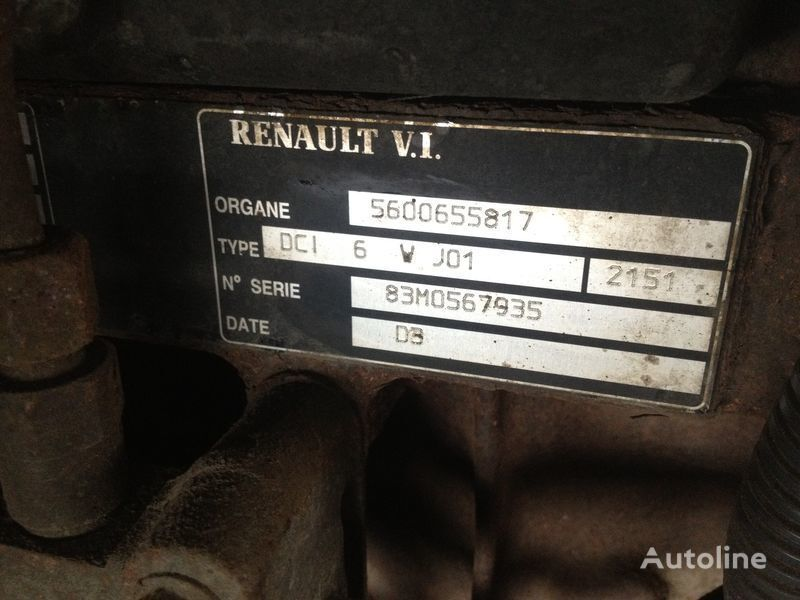 Renault dci 6v j01 motor para RENAULT 220.250.270 camión