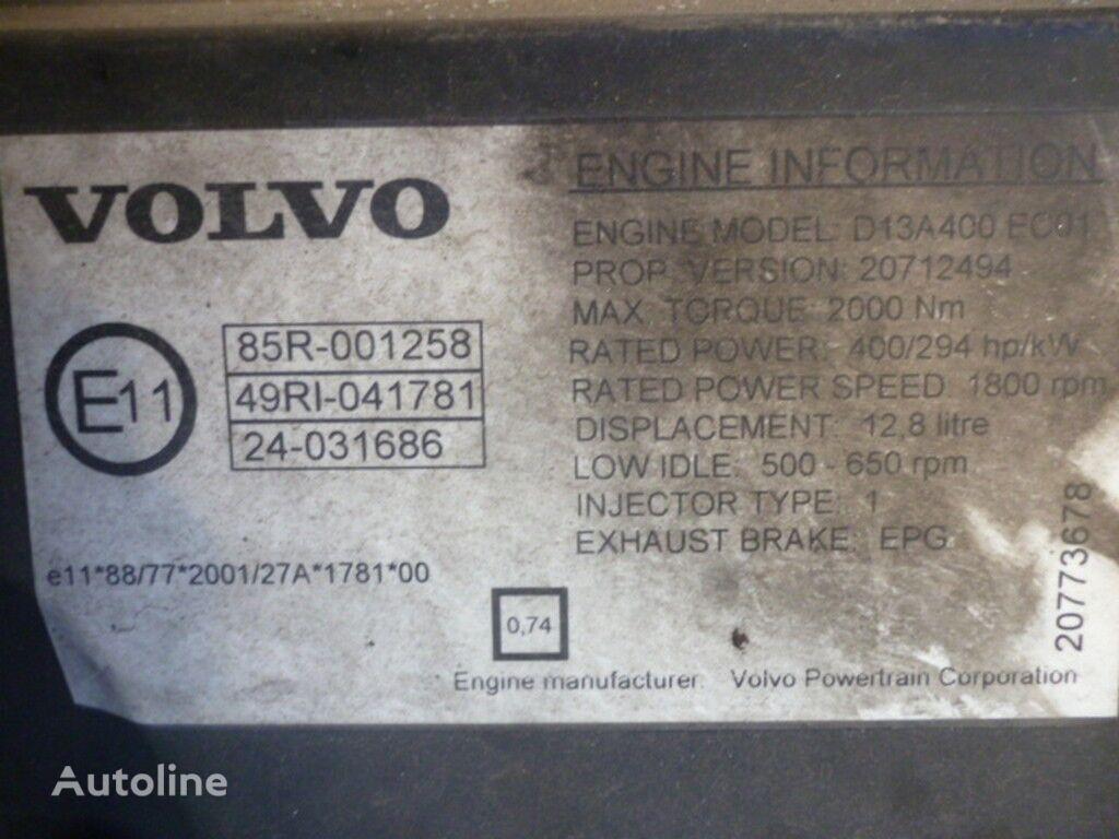 Volvo D13A400 EC01 motor para VOLVO camión