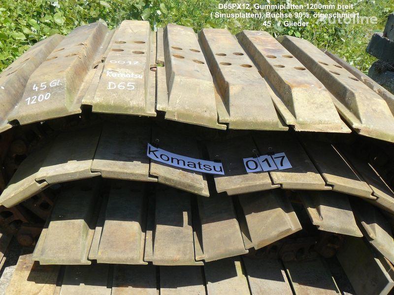 Kette mit Sinus- Gummiplatten für D65PX oruga de caucho para excavadora