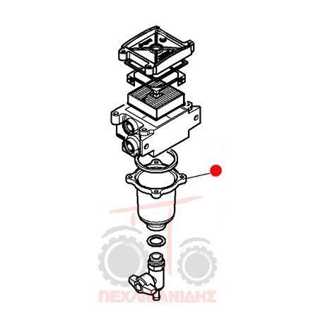 Gyalί nerhopagίdaς AGCO (F916200060050) otra pieza del sistema de refrigeración para MASSEY FERGUSON tractor