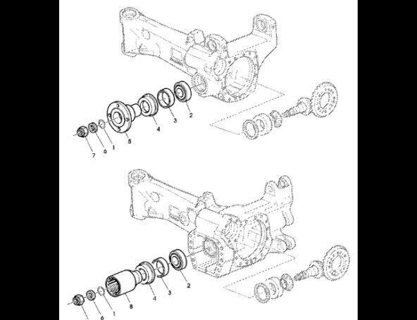Uszczelnienie JOHN DEERE AL175758 otra pieza del sistema de suspensión para JOHN DEERE 7530 Premium tractor