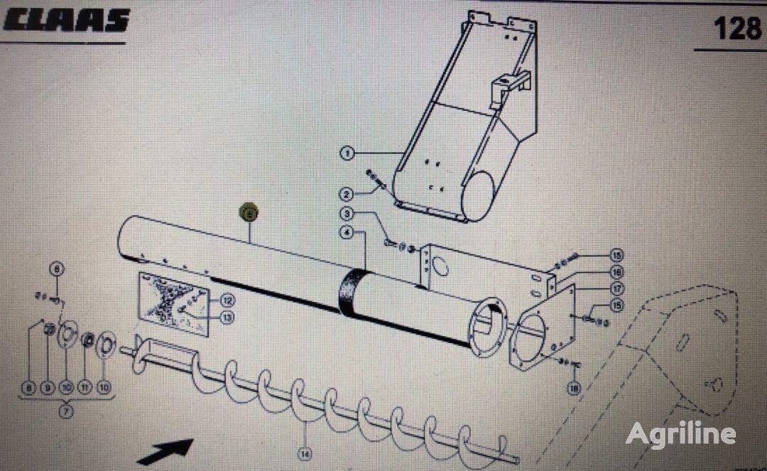 Rura rozładowcza otras piezas de funcionamiento para CLAAS Mega 370-340 cosechadora de cereales