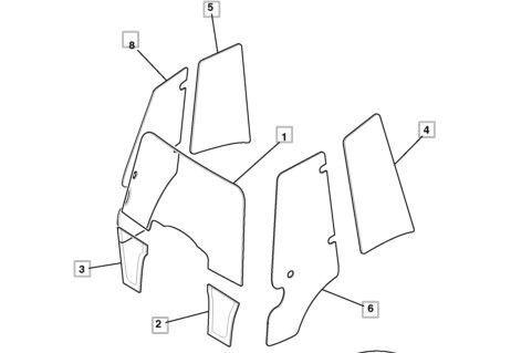 parabrisas para JCB 3CX, 4CX retroexcavadora