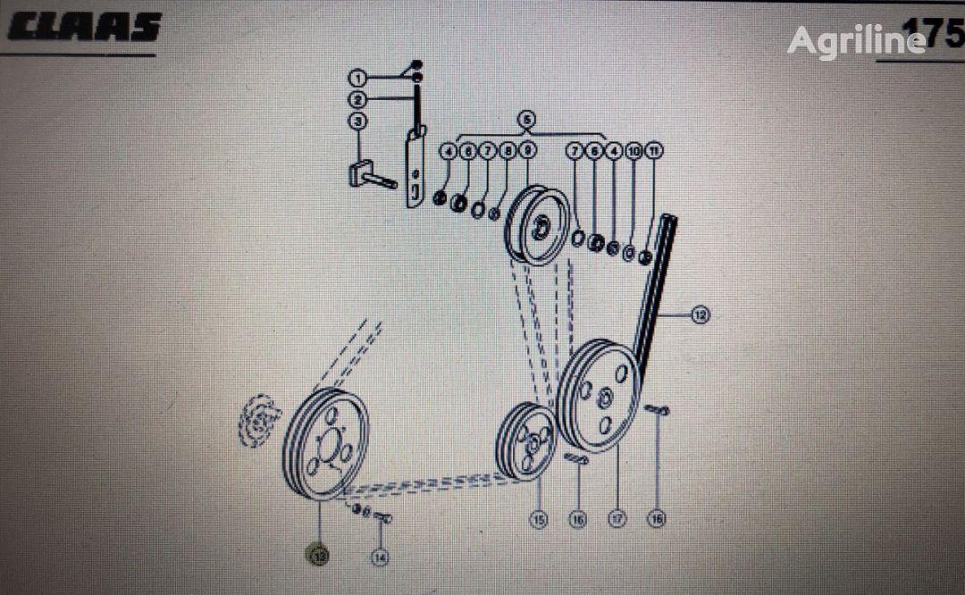 (000 603 189 0) polea para CLAAS Mega 370-340 cosechadora de cereales
