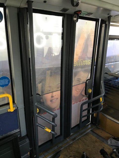 puerta para SETRA 415 NF Einstiegstüren hinten doppelverglast autobús