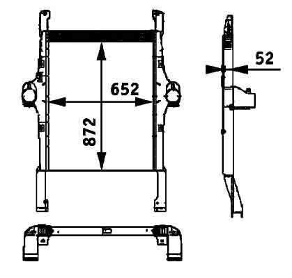 BEHR HELLA IVECO 41214448.8ML 376 724-251 radiador de refrigeración del motor para IVECO STRALIS tractora nuevo