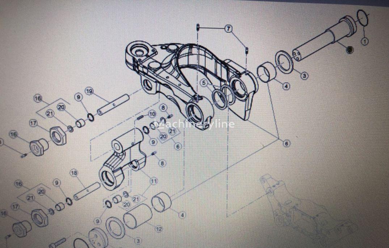 Sworzeń Zawieszenia Przedniej Osi recambios para CLAAS Arion cargadora telescópica