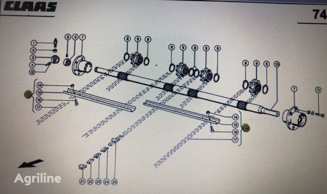 Łańcuch recambios para CLAAS Mega 370-360 tractor