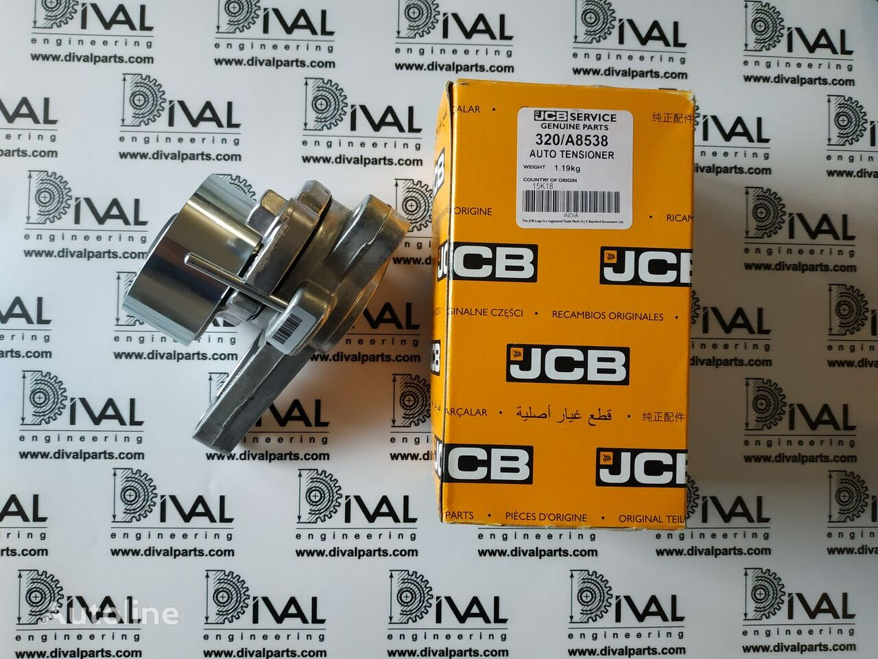 Natyazhnoy rolik JCB recambios para JCB 530/70, 531/70, 540/70, 541/70, 535/95, 533/105, 535/125, 535/125 HiViz, 535/140, 540/140, 3CX, 4CX, 5CX retroexcavadora