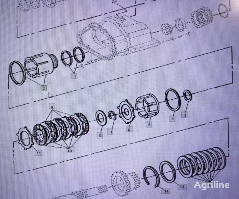 Bęben JOHN DEERE RE 13951 recambios para JOHN DEERE  4555/4755/4955 tractor