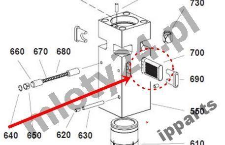 MONTABERT recambios para MONTABERT 1200 klin zabezpieczenie grot nie Ramer otros maquinaria de construcción