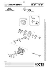 MERCEDES-BENZ HI 8. 14x41 (Hl8) reductor para MERCEDES-BENZ Actros camión