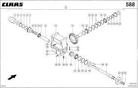 reductor CLAAS rotora para cosechadora CLAAS Lexion 760-470