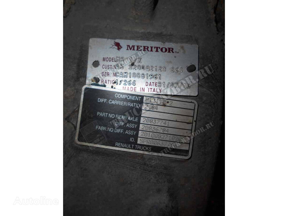 RENAULT zadnego mosta reductor para RENAULT MS17X 2.64 RSS1344C tractora