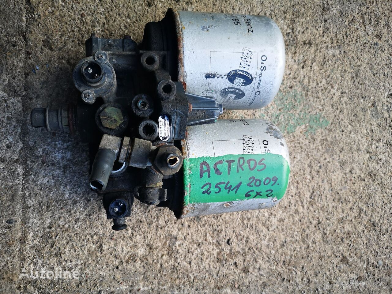 WABCO 432433002 (A0024314015) secador de aire para MERCEDES-BENZ Actros , A0024314015 camión
