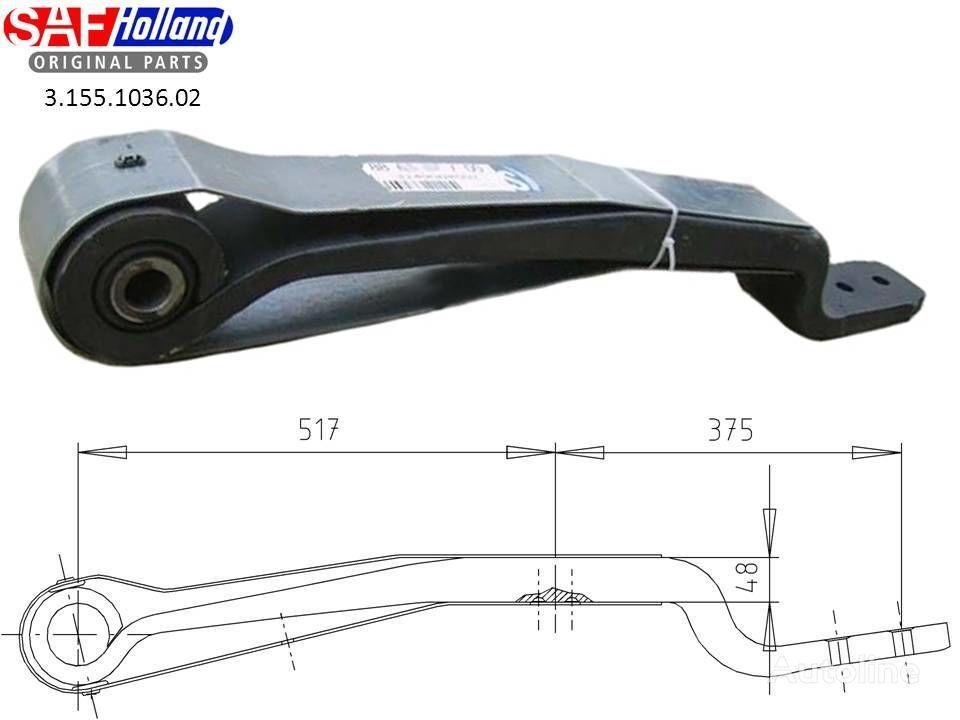 SAF 3155103602,3155103601,F188Z035ZA75 suspensión de ballesta para SAF tractora nuevo