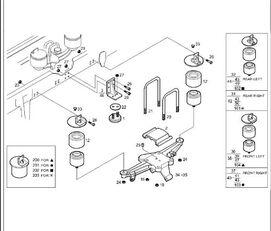 Viga Suspension Neumatica Eje Trasero Derecha Iveco Stralis AS 4 (41030414) suspensión neumática para IVECO Stralis AS 440S48 tractora
