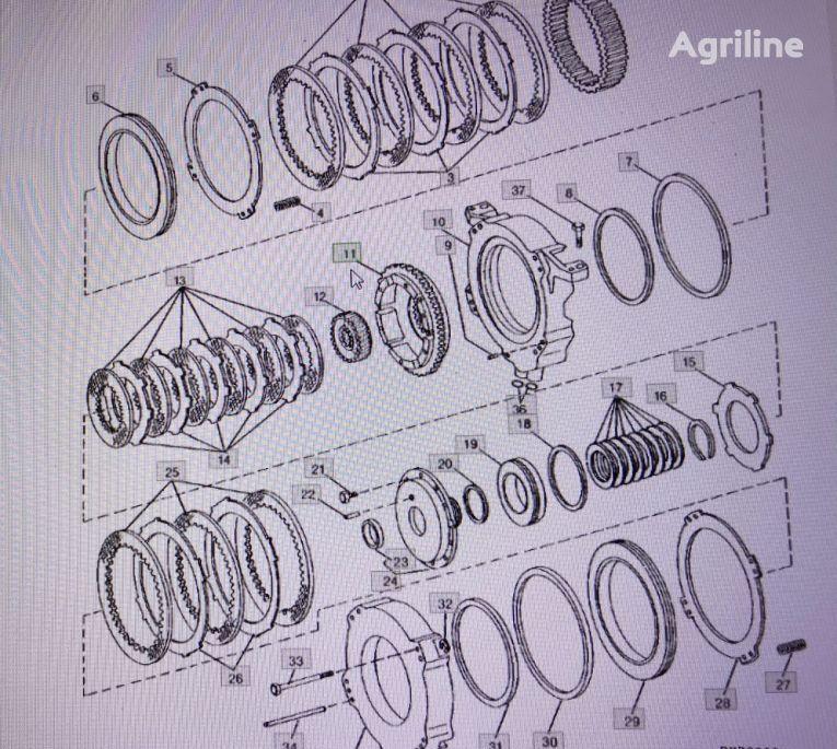 bęben (RE20933) tambor de freno para JOHN DEERE 4555/4755/4955 tractor