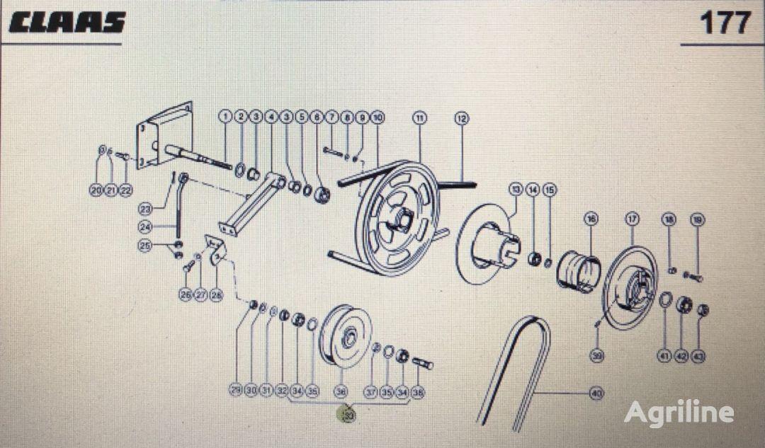 (000 629 278) tensor de correa para CLAAS Mega 370-340  tractor