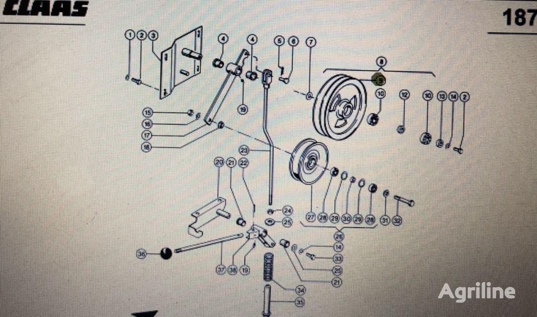 (000 544 179 0) tensor de correa para CLAAS Mega 370-340  tractor