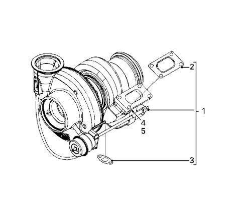 DAF Turbo DAF Serie LF55.XXX desde 06 Fg 4x2 [6,7 Ltr. - 184 kW Dies (1404960) turbocompresor para motor para DAF Serie LF55.XXX desde 06 Fg 4x2 [6,7 Ltr. - 184 kW Diesel] camión