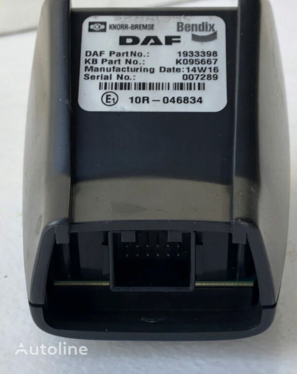 DAF emission monitoring camera, radar unit unidad de control para DAF XF, 106XF EURO6, CF tractora