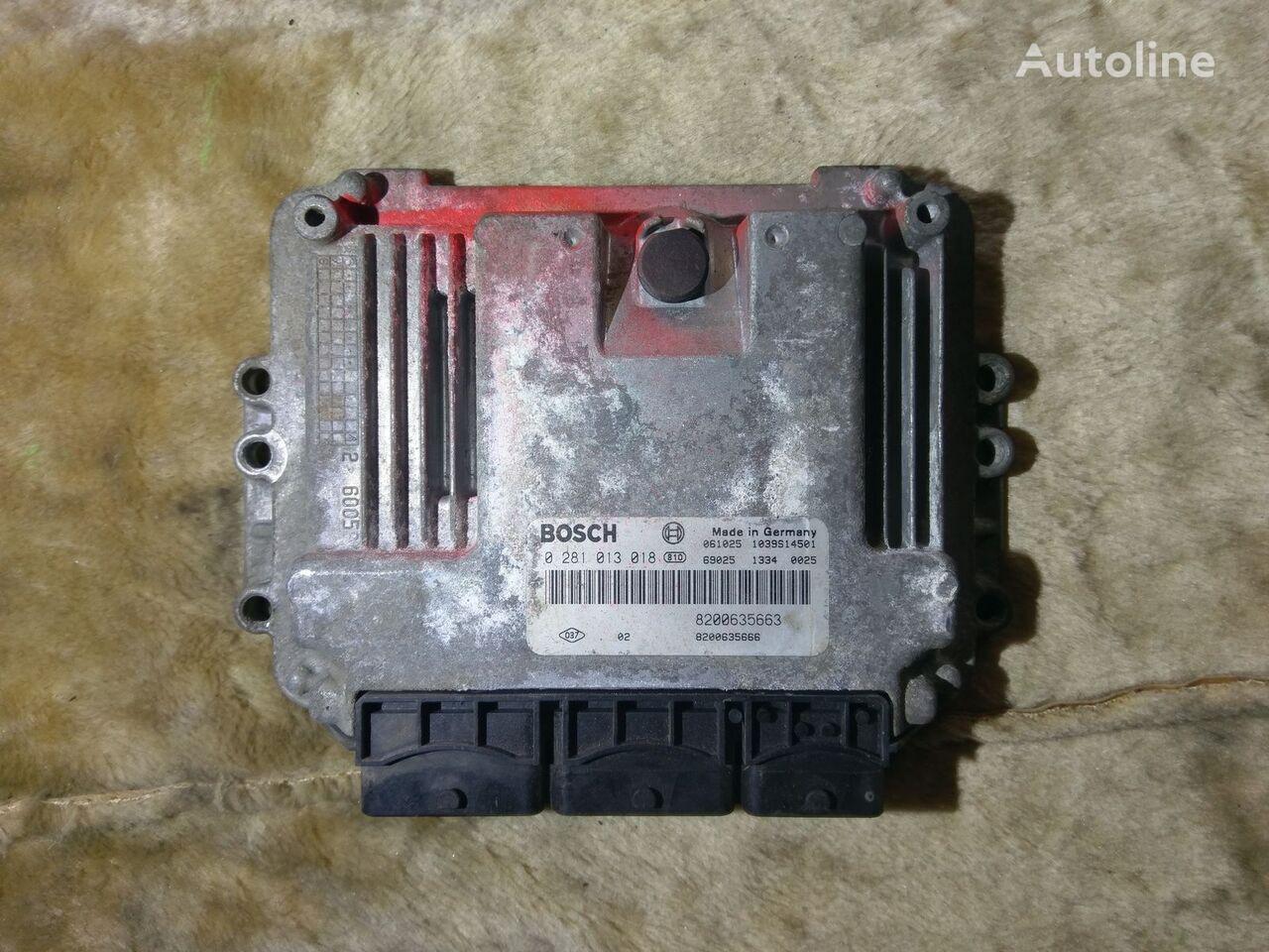 unidad de control BOSCH 0281013018 8200635663 8200635666 para furgoneta RENAULT MOVANO