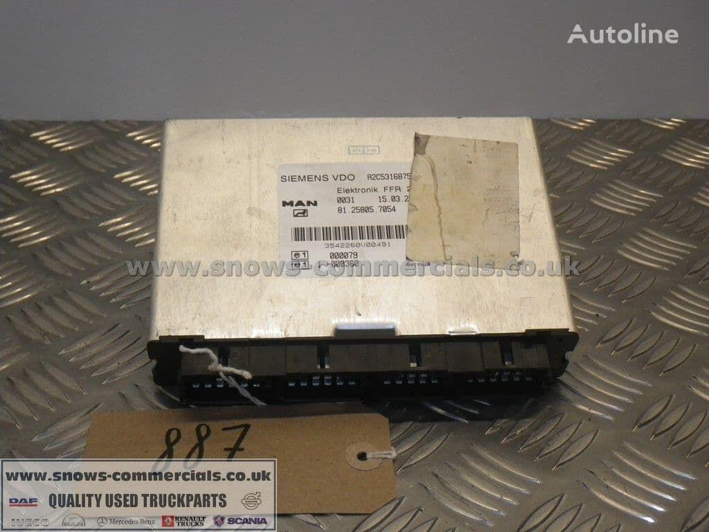 FFR ECU (81.25805-7054) unidad de control para MAN TGA camión