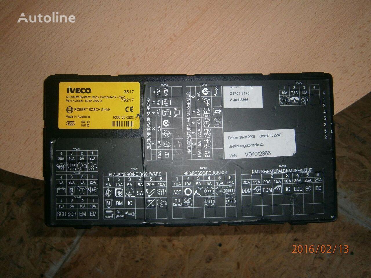 IVECO EURO5 Multiplex system body computer 504276228 unidad de control para IVECO Stralis tractora