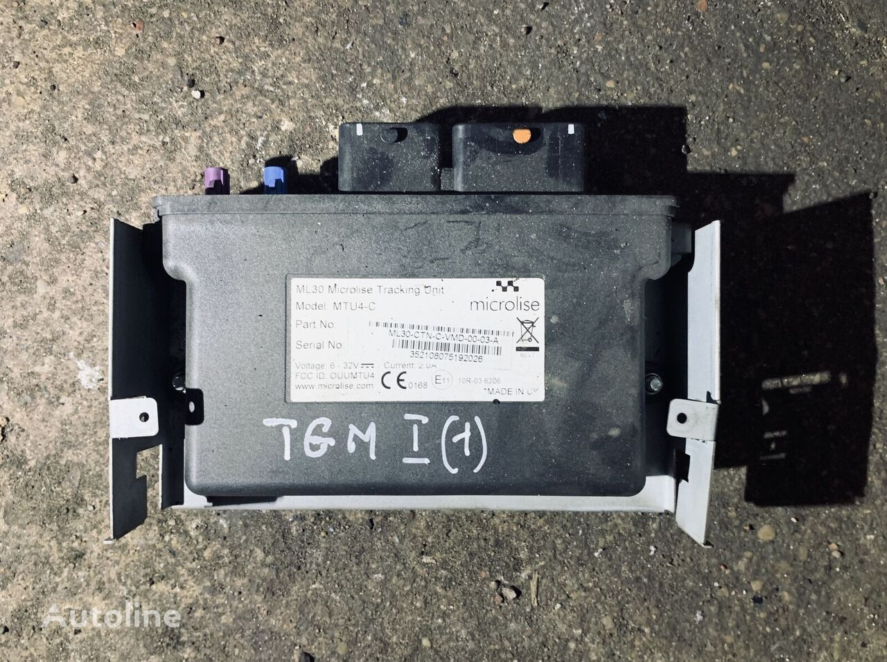 MAN ML30 Microlise Tracking Unit (352108075192026) unidad de control para MAN TGM camión