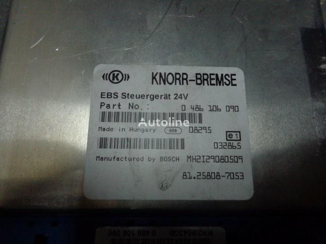 MAN electronic brake system EBS, ECU, 81258087053, KNORR-BREMSE 0486 unidad de control para MAN TGX tractora