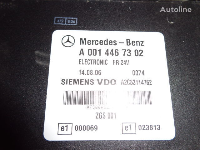 Mercedes Benz Actros MP2, MP3, MP4, FR control unit ECU 0014467302, 0014467302, 0004467502, 0014461002, 0014467402, 0004467602, 0004469602, 0014461302, 0014461402, 0014462602, 0014467002, 0014461902, 0014464102, 0014464002, 0024460102, 0014465402, 0024460 unidad de control para MERCEDES-BENZ Actros tractora