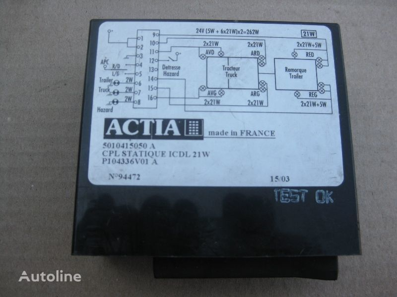 RENAULT ACTIA ACTIA unidad de control para RENAULT camión