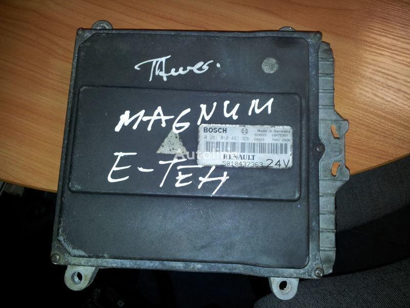 RENAULT engine computer EDC, ECU, 5010437363, BOSCH 0281010481 unidad de control para RENAULT Magnum E-TECH  tractora