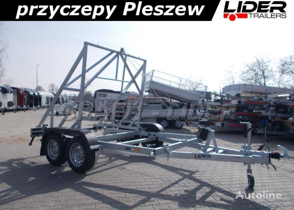 LIDER lider-trailers LT-047 przyczepa 305x195cm, kablowa do przewozu b remolque chasis nuevo