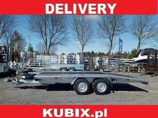 KUBIX BORO twin-axle car hauler, dovetail, 450×200, plywood inside, GV remolque de cama baja nuevo